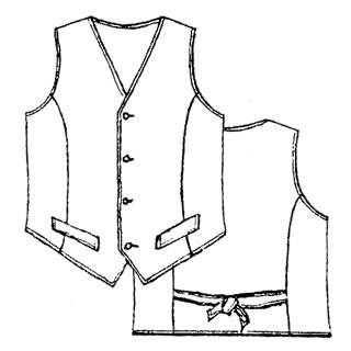 patron couture gilet garcon