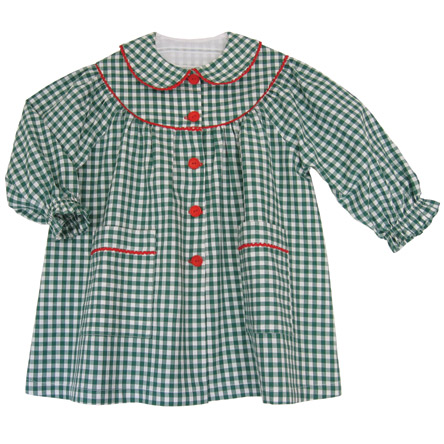 Patron n°351 Tablier fille col Claudine 2-3-4 ans