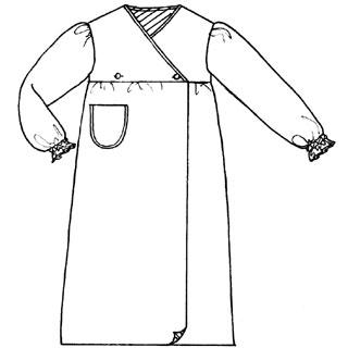 patron n 114 robe de chambre 4 10 ans. Black Bedroom Furniture Sets. Home Design Ideas
